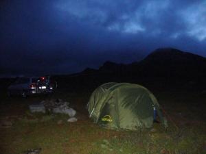 Telting ved Gaustatoppen